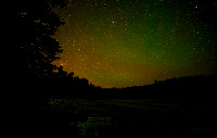 Airglow over Nickel Plate Lake