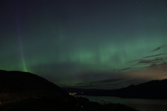 Okanagan Auroral with Shaft of Auroral Light