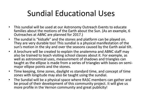 The Analemmatic Sundial Project
