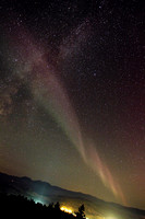 Aurora meets Milky Way
